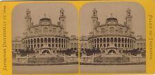 Palais du Trocadéro Exposition Universelle de Paris 1889 Stereo Vintage albumine