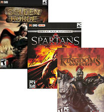 STRATEGY PACK 3x PC Games Spartans, 7 Kingdoms, etc NEW