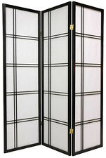 Brand New 3-panel multifunction Paper Shoji Screen room divider- black- Asdi