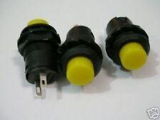 S261 - 5 Stück Drucktaster AUS(EIN) Moment Taster gelb