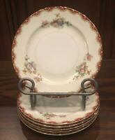 "VINTAGE Royal Embassy China 6.5"" Bread Plates RUTLAND 6-Piece Set JAPAN"