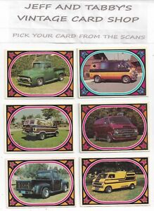 1975 DONRUSS TRUCKIN' YOU PICK FROM SCANS