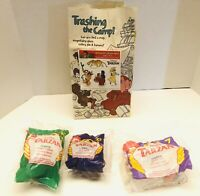 Tarzan 1999 McDonald's Happy Meal Lot Of 3 Toys With Bag And Sticker Sealed!