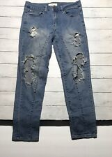 Mens 21MEN ripped jeans sz 30 destroyed distressed an all american brand 32X34