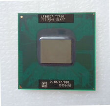 Intel Core2Duo T7700 SLAF7 2.4GHz 800MHz 4MB Cache Socket P CPU Processor