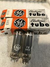original box Pair GE  6216 vacuum tubes tubes in mint condition General Electric new old stock matching date codes