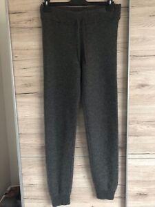 A.P.C Paris Grey 100% Cashmere Lounge Pants L fit 10 12 trousers joggers luxury