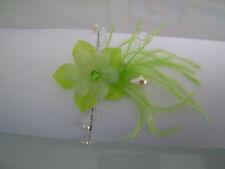 Bracelet Original Vert anis/Ivoire/Cristal robe Mariée/Mariage/Soirée Fleur