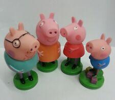 Set of 4pcs Peppa Pig Peppa Daddy Mummy Peppa George 7.5cm-9.5cm PVC Figures