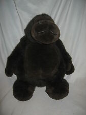 FAO Schwarz Dark Brown Gorilla Plush Stuffed Animal 12""