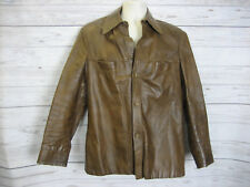 / Vintage 70-80's a Robert Lewis idea Men's Leather Jacket Size: 42