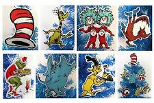 Dr. Seuss 6 Christmas Ornaments Grinch Cat in Hat, Horton, Fox in Sox, Sneetches