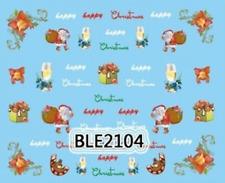 Nailart stickers décalcomanie ongles décorations de Noël Père Noël christmas