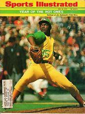 1971 (5/31) Sports Illustrated,Baseball magazine,Vida Blue, Oakland Athletics~VG