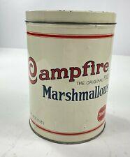 VINTAGE BORDEN CAMPFIRE MARSHMALLOWS TIN 1920'S REPLICA 16 OZ