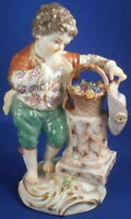 Superb Meissen Porcelain Boy w/ Grapes Figurine Figur Porzellan Figur Germany