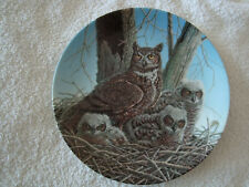 LIMITED EDITION PLATE 'THE GREAT HORNED OWL' BY JIM BEAUDOIN' - VGC SUPERB ITEM