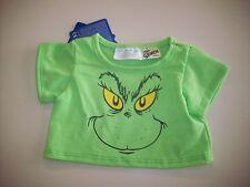"""NWT Build A Bear Tee Shirt - Green """"How The Grinch Stole Christmas"""" Shirt"""