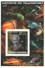Albert Einstein de viaje espacial Star Trek nave estelar Enterprise estampillada sin montar o nunca montada SELLO Sheetlet