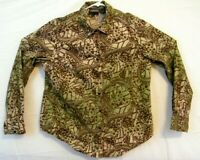 RoughRiders Womens Western Shirt Large Tan / Brown Pearl Snap Long Sleeve