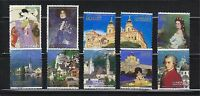 JAPAN 2009 JAPAN - AUSTRIA FRIENDSHIP YEAR COMP. SET OF 10 STAMPS IN FINE USED