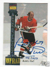 BOBBY HULL 1994 Signature Rookies Tetrad Certified Autograph Card # CXXII [#122]
