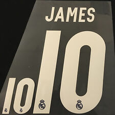 MADRID JAMES 10 FOOTBALL SHIRT NAME NUMBER PRINT SET HEAT TRANSFER IRON KIT AWAY