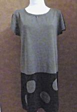 Robe JACQUELINE RIU T40 - Robe pull droite grise et noire acrylique (1611024)