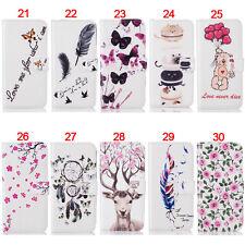Deer Bear Wallet Leather Skin Flip Case Cover Card For Samsung S5 S6 S7 Edge S8