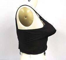 Vtg 40s Formfit Life Bullet Bra Sheer Black Nylon Bustier Garters Nwt 36C