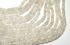 """14"""" Strand CHAMPAGNE ZIRCON 3mm Micro-Faceted Rondelle Beads AAA NATURAL"""