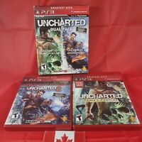 Uncharted Dual Pack (Sony PlayStation 3, 2011) PS3 CIB