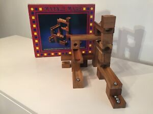 Vintage 1993 Wooden Marble Maze from Lagoon Games