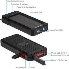 Powerbank Solare Caricabatteria Portatile batteria iphone samsung xiaomi huawei
