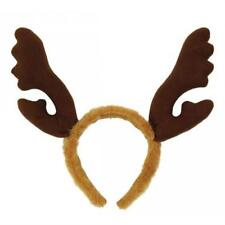 Brown Furry Reindeer Antlers Stag Horns Night Rudolph Fancy Dress Christmas