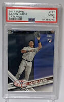 2017 Topps #287 Aaron Judge RC Catching PSA 9 Mint Rookie New York Yankees