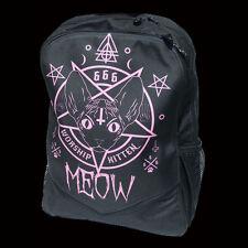 DARKSIDE 666 WORSHIP KITTEN PRINTED BACKPACK. DEVIL KITTY. DEMONIC. SATANISM