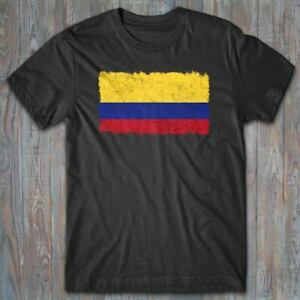 Novelty T shirt FLAG OF COLOMBIA distressed, cool patriotic gift Latin America