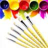 12PCS PRO Paint Brush Set Hair artist paints brush for Watercolor Oil Painting