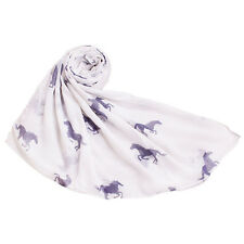 Warm Voile Running Horse Fashion Print Animal Wrap Stole Shawl Scarf