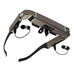 """80"""" Smart 3D VR Video Glasses Android 4.4 WiFi Bluetooth Headset + 5MP HD Camera"""