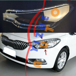 1*Left Side Headlight Cover Clear PC With+Glue Replace For KIA K3 Forte 15-2016