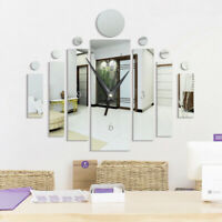 DIY 3D Large Wall Clock Acrylic Mirror Sticker Living Room Clocks Home Decor