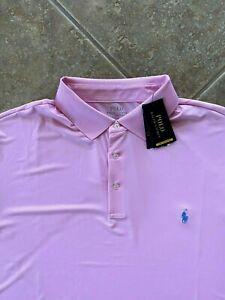 Polo Ralph Lauren Performance Interlock Polo Shirt 4XB Pink w/Blue Pony NWT $110