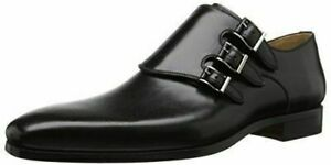 Formal Shoes Mens Real Leather Black with Triple Buckle Mens