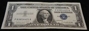 1957A 1 Dollar Silver Certificate Note in AU Condition Nice Collectible Note!*