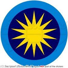 """MALESIA Reale Aeronautica Militare Malese TUDM Tondo Adesivo 100mm 4"""" Sticker"""