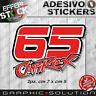 Adhesivos Etiqueta Engomada Capirossi Capirex Loris 65 Motogp Ducati Suzuki