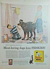 Lot of 4 Vintage Friskies Dog Food Print Ads Artwork by Douglass Crockwell