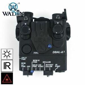 WADSN DBAL-A2 LED White Flashlight Red Laser IR Pointer Device - BLACK -